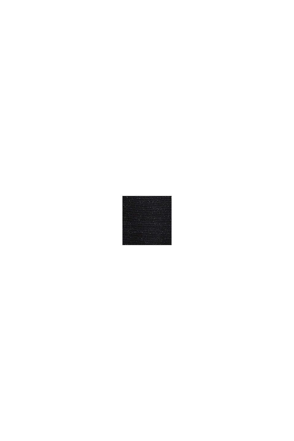 En matière recyclée: le pull-over en maille à paillettes, BLACK, swatch