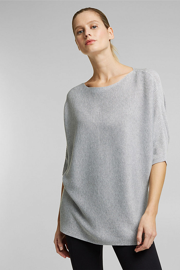 Recycled: glittering knit jumper, LIGHT GREY, detail image number 0