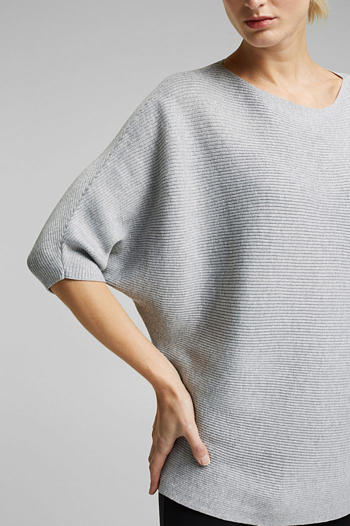 Recycled: glittering knit jumper, LIGHT GREY, detail image number 2