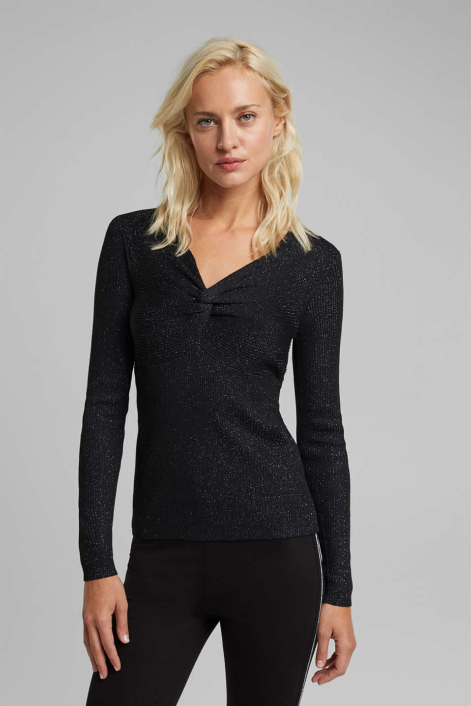 Esprit - Recycled: glittering knit jumper