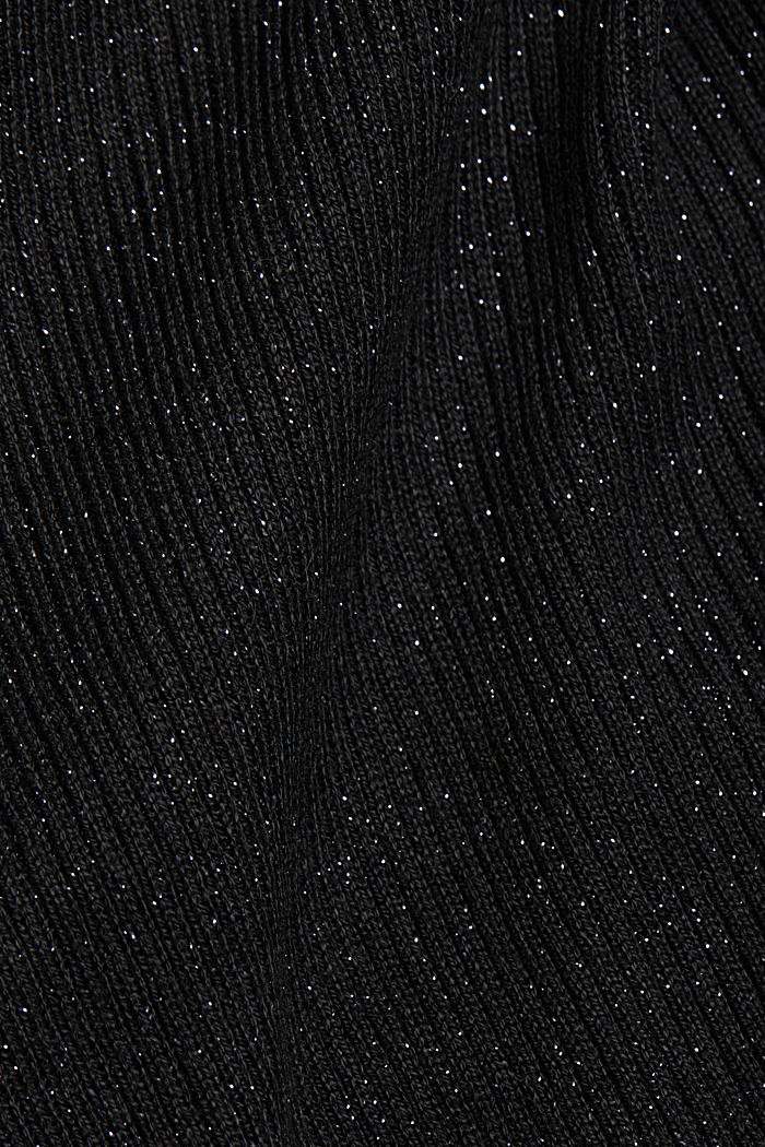 Recycled: glittering knit jumper, BLACK, detail image number 4