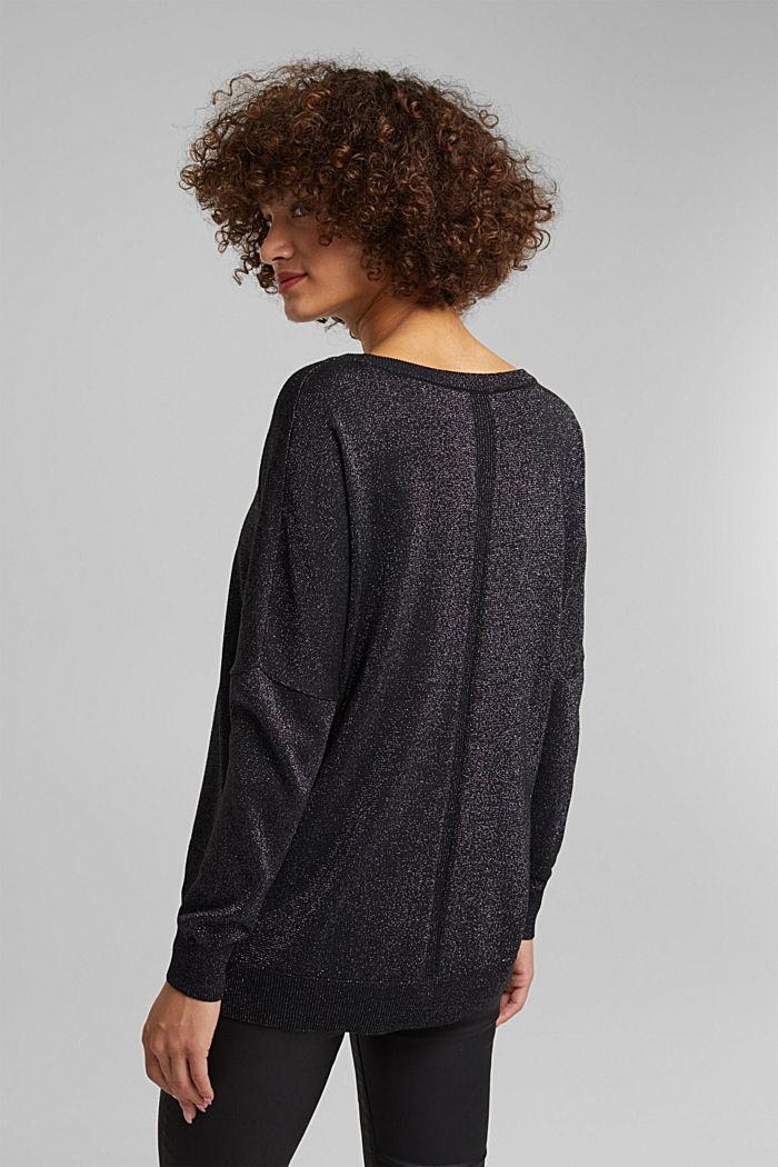 Jumper with lurex threads, BLACK, detail image number 3