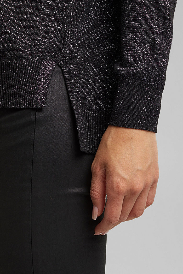 Jumper with lurex threads, BLACK, detail image number 5