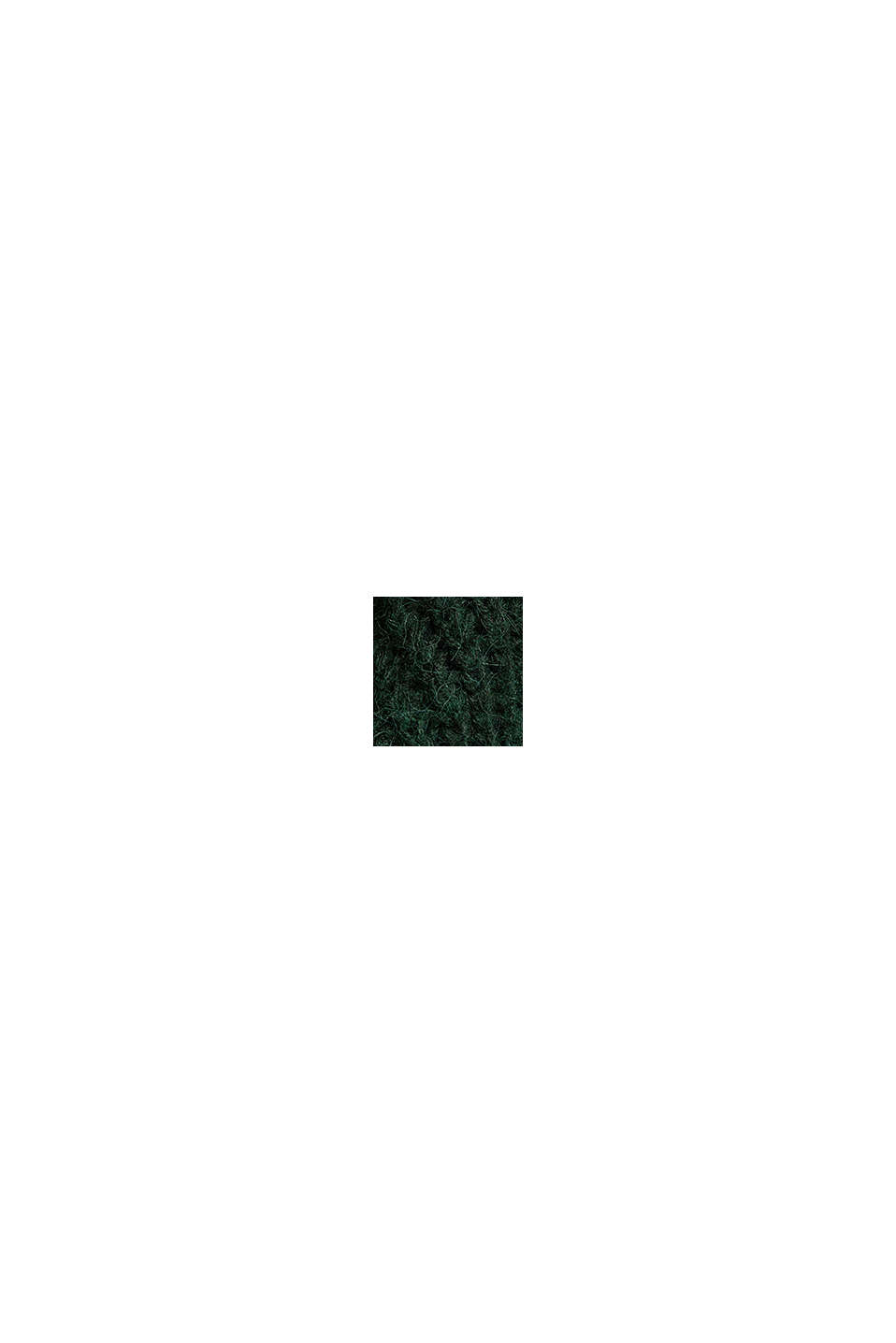 Z wełną i alpaką: sweter w ażurowy wzór pointelle, DARK GREEN, swatch