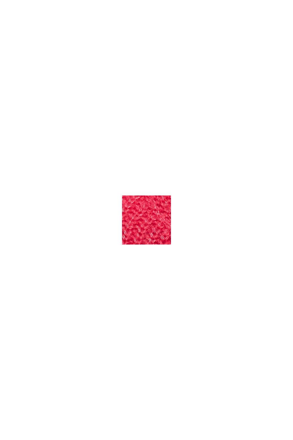 Z wełną i alpaką: sweter w ażurowy wzór pointelle, PINK FUCHSIA, swatch