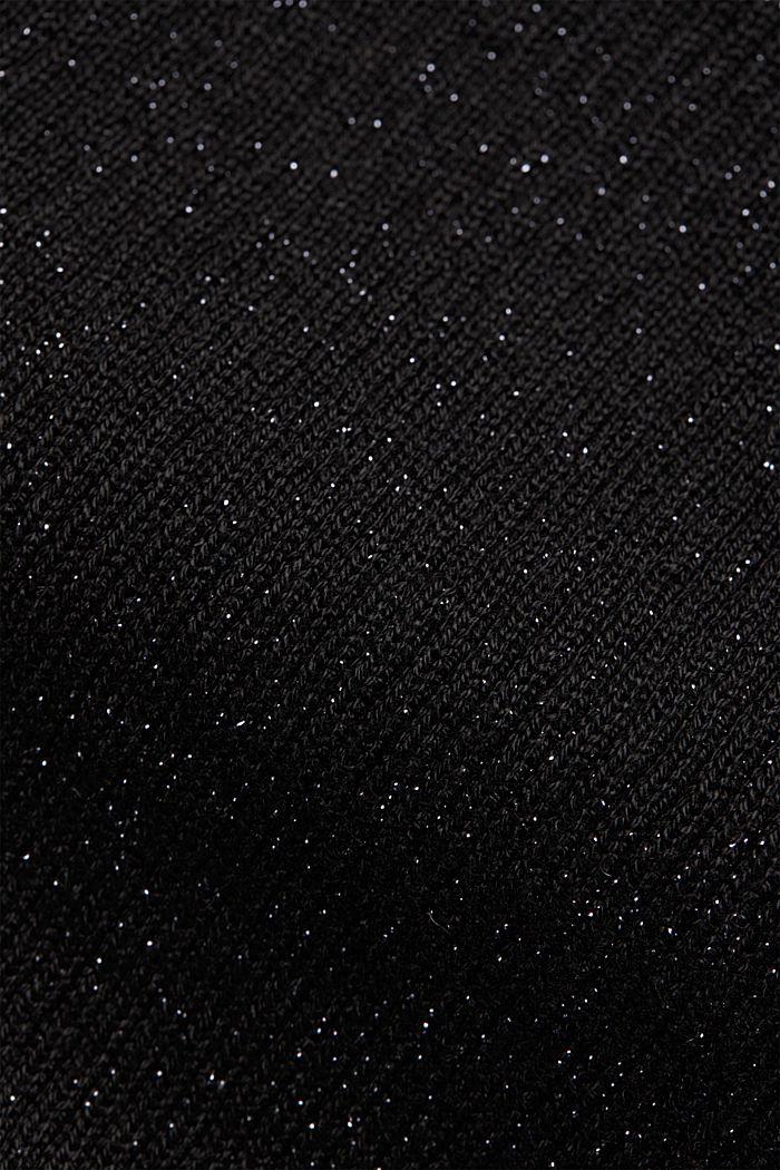 Glittering ribbed jumper, BLACK, detail image number 4
