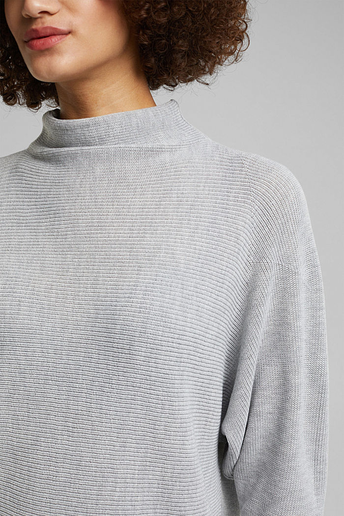 Jumper with batwing sleeves, LIGHT GREY, detail image number 2