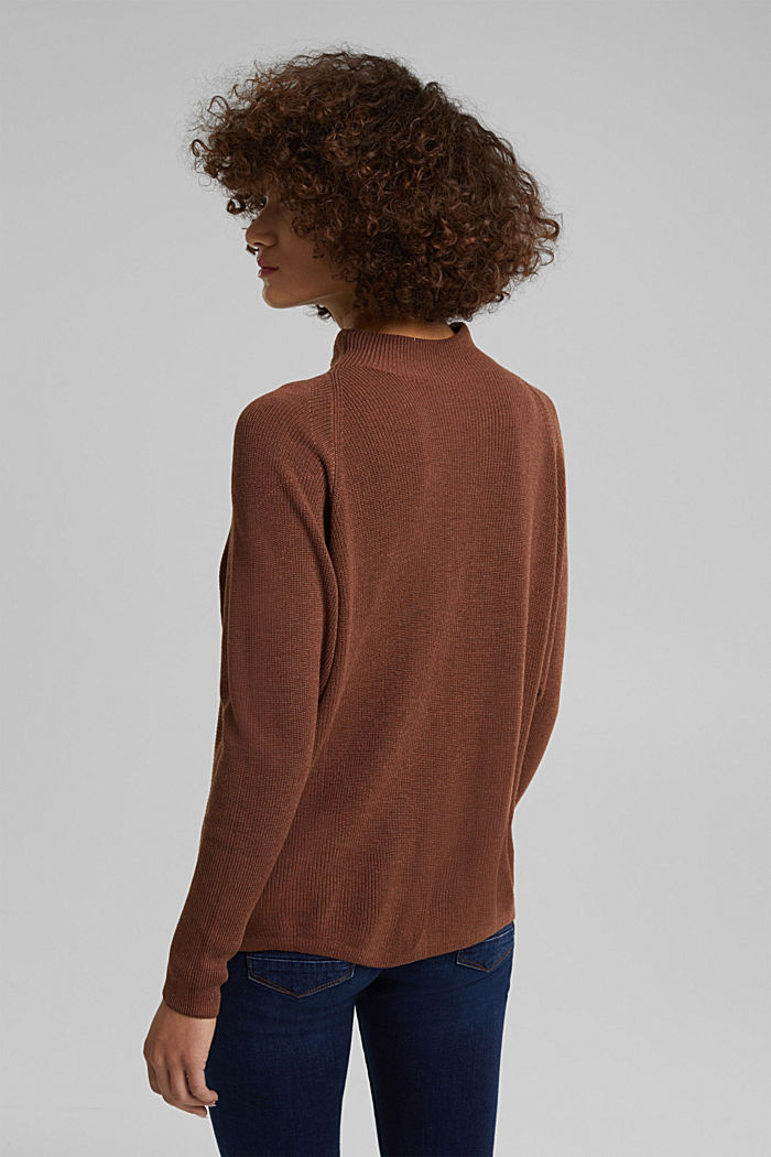 Jumper with batwing sleeves, BROWN, detail image number 3