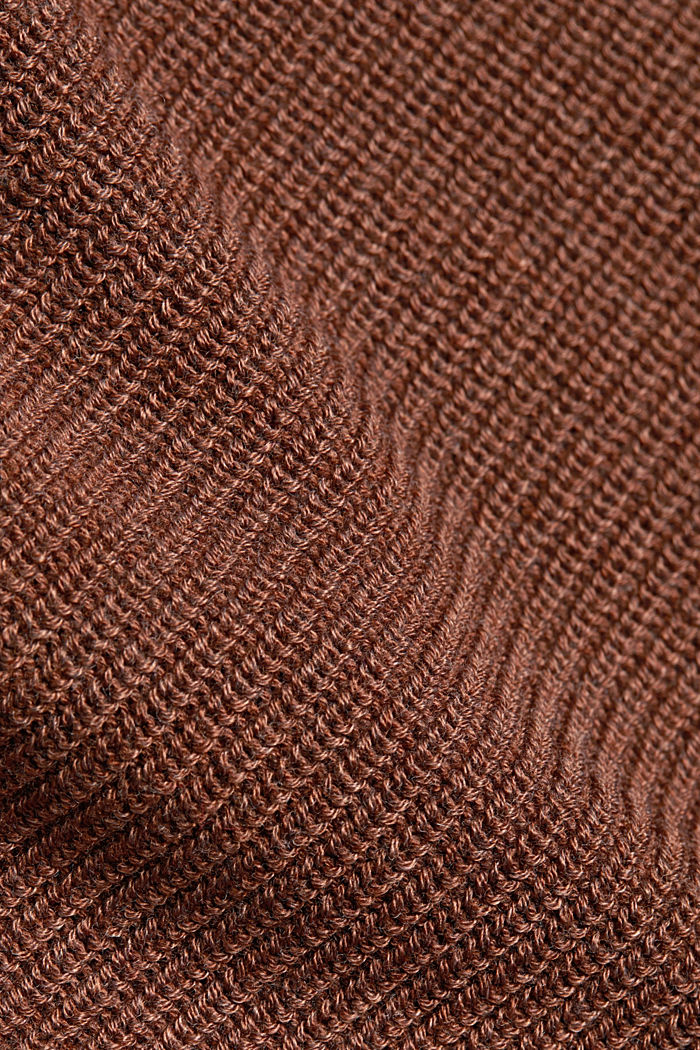Jumper with batwing sleeves, BROWN, detail image number 4