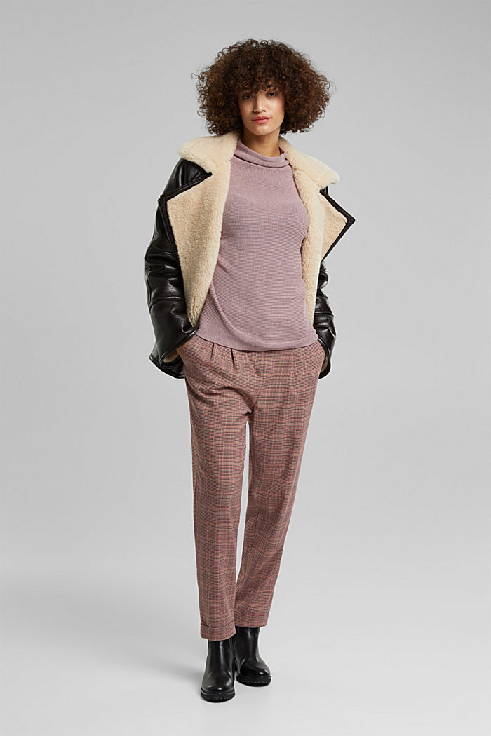 Jumper with batwing sleeves, MAUVE, detail image number 1