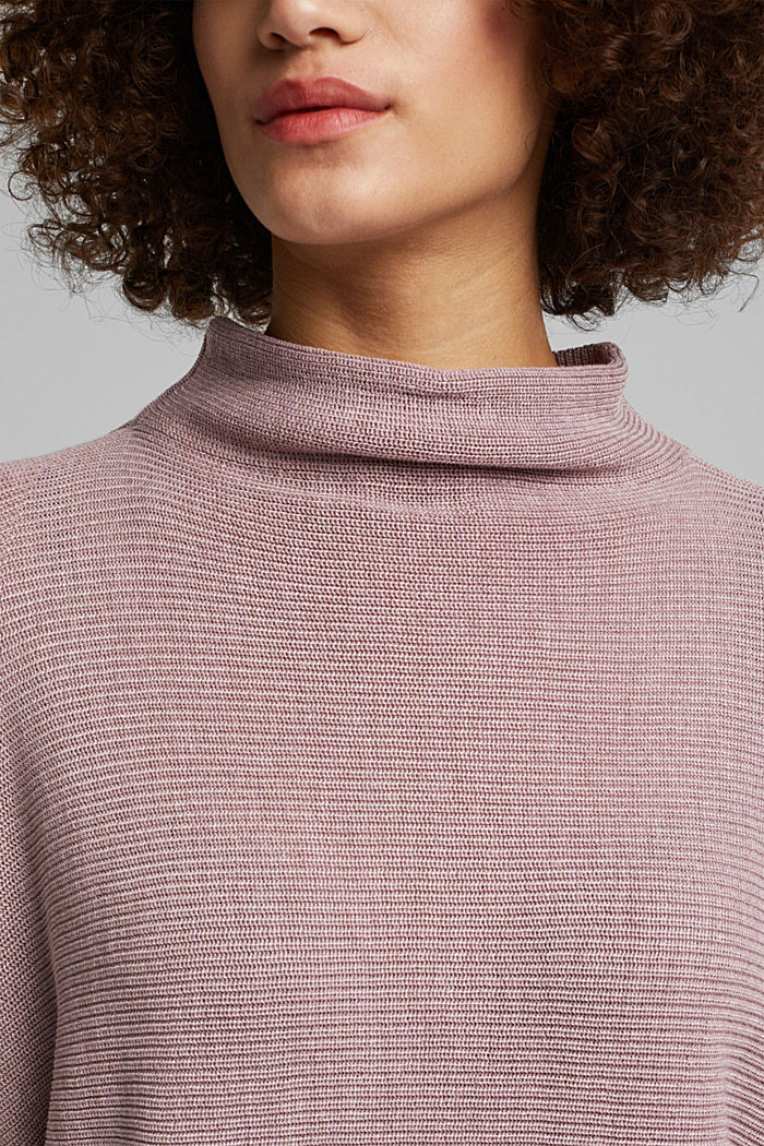 Jumper with batwing sleeves, MAUVE, detail image number 2