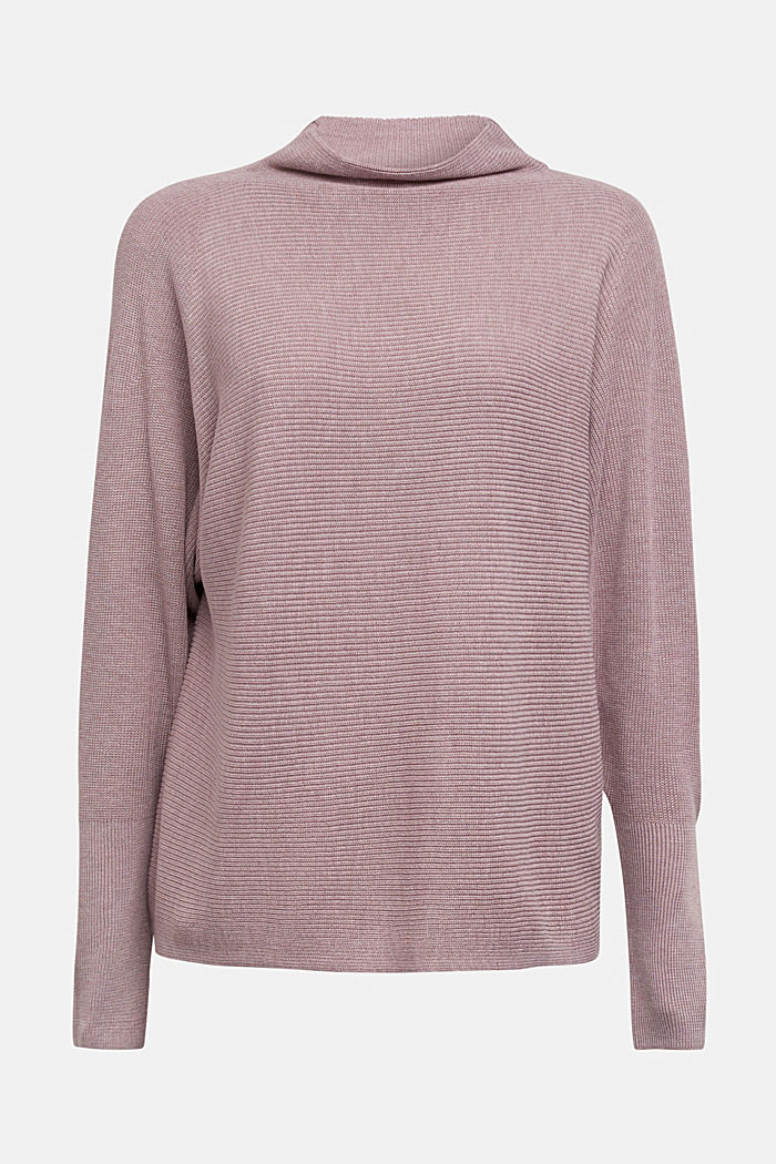 Jumper with batwing sleeves, MAUVE, detail image number 5