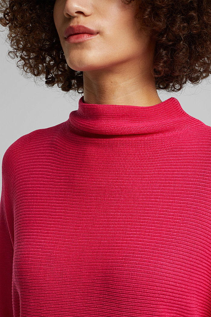 Jumper with batwing sleeves, PINK FUCHSIA, detail image number 2
