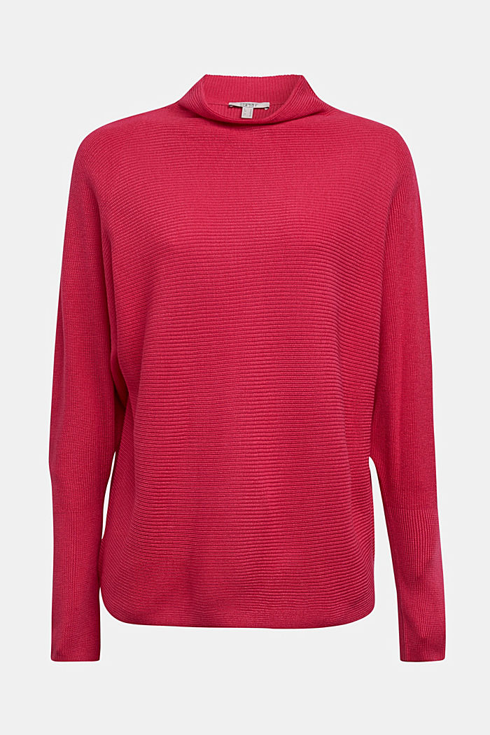 Jumper with batwing sleeves, PINK FUCHSIA, detail image number 5