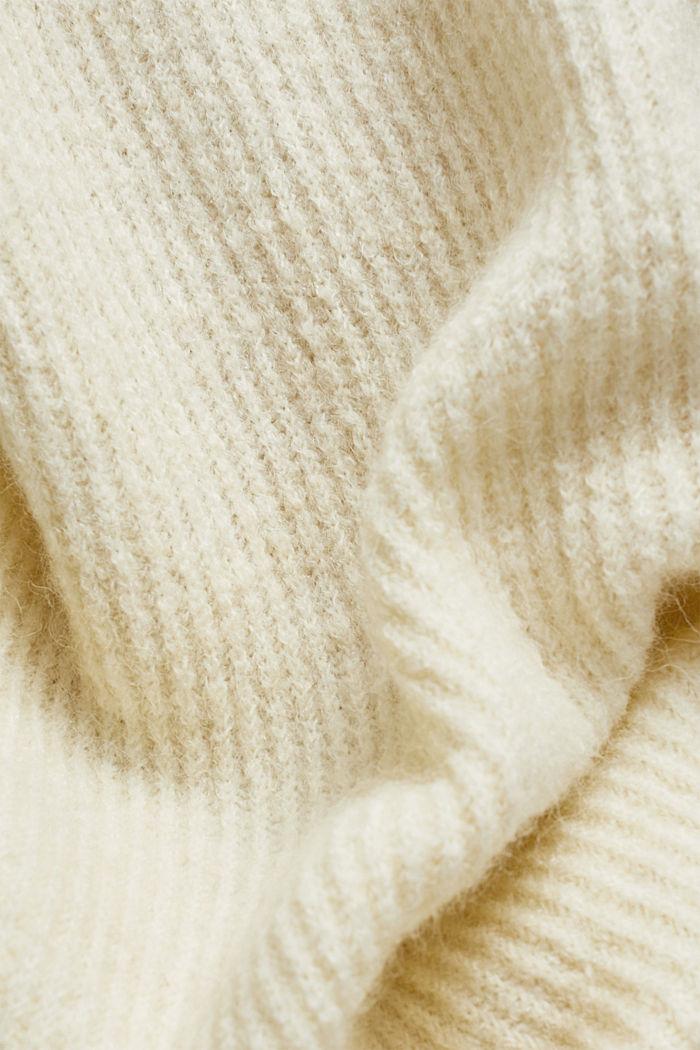 Wool blend: Jumper with button details, CREAM BEIGE, detail image number 4