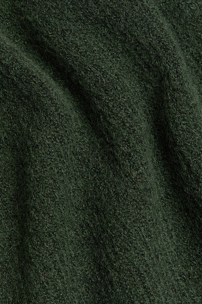 Wool blend: Jumper with button details, DARK GREEN, detail image number 4