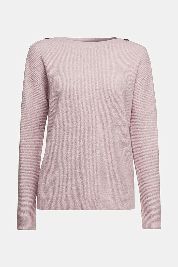 Svlnou: pulovr s knoflíky, MAUVE, detail image number 5