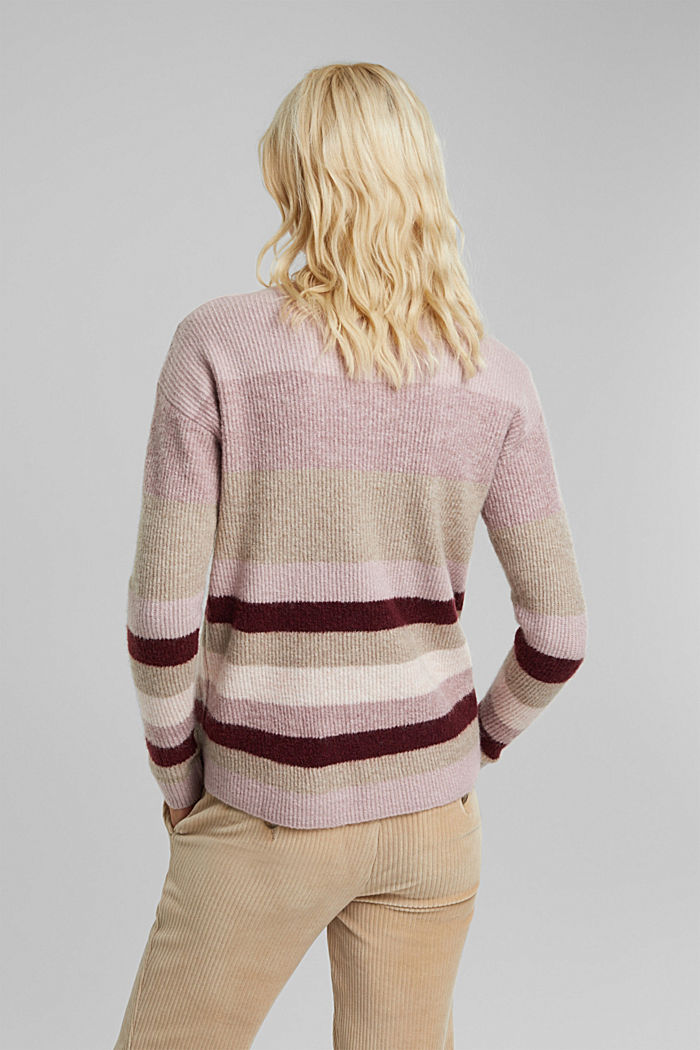 Wool blend: Jumper with button details, BORDEAUX RED, detail image number 3