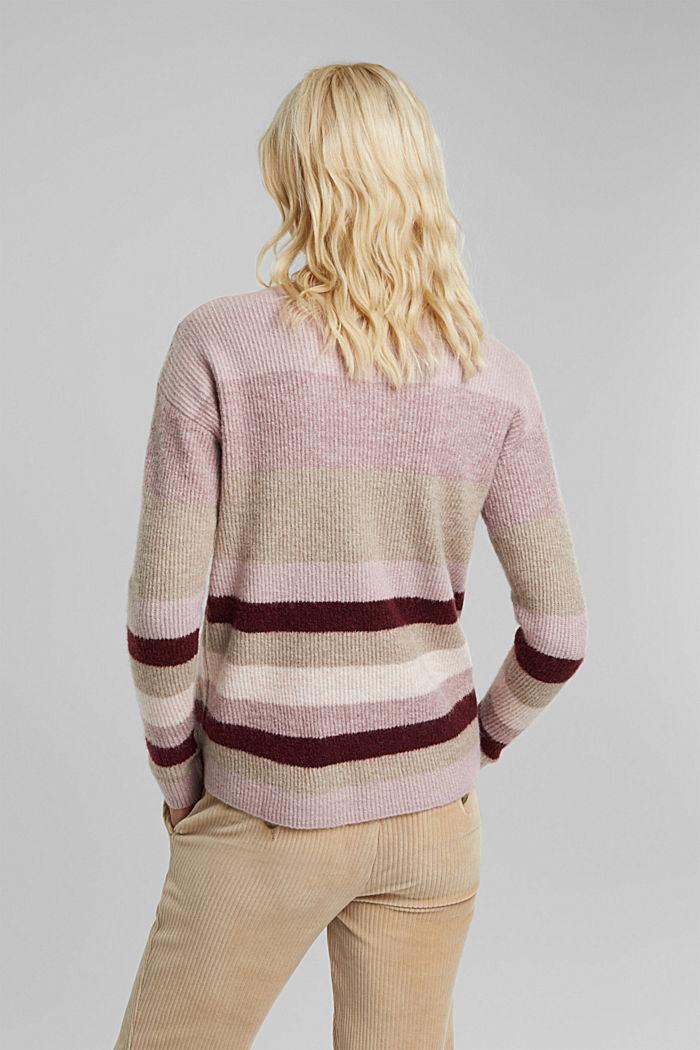 À teneur en laine: le pull-over orné de boutons décoratifs, BORDEAUX RED, detail image number 3