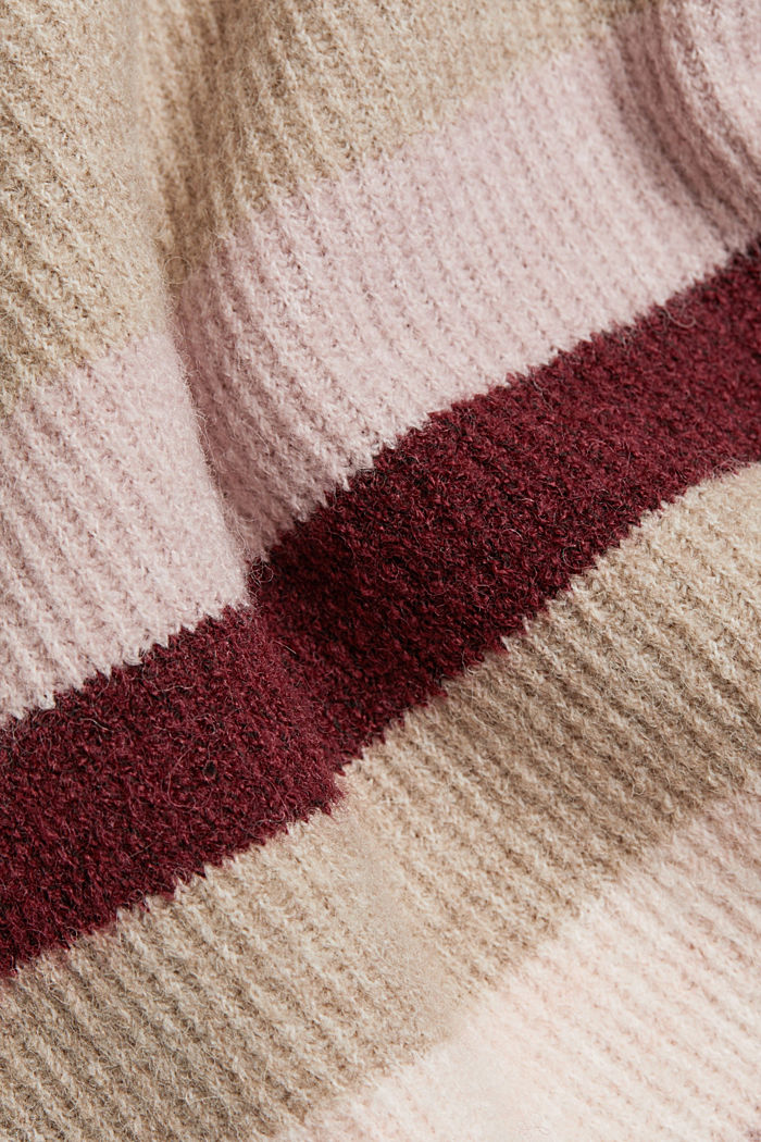 Wool blend: Jumper with button details, BORDEAUX RED, detail image number 4