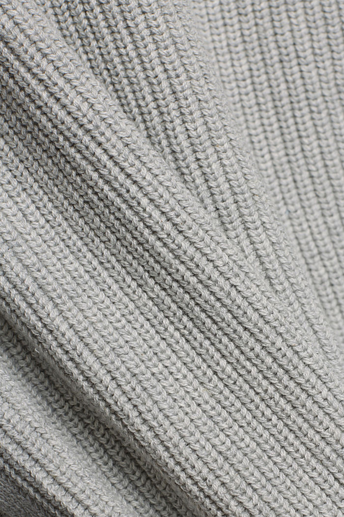 Sleeveless jumper made of 100% organic cotton, LIGHT GREY, detail image number 4
