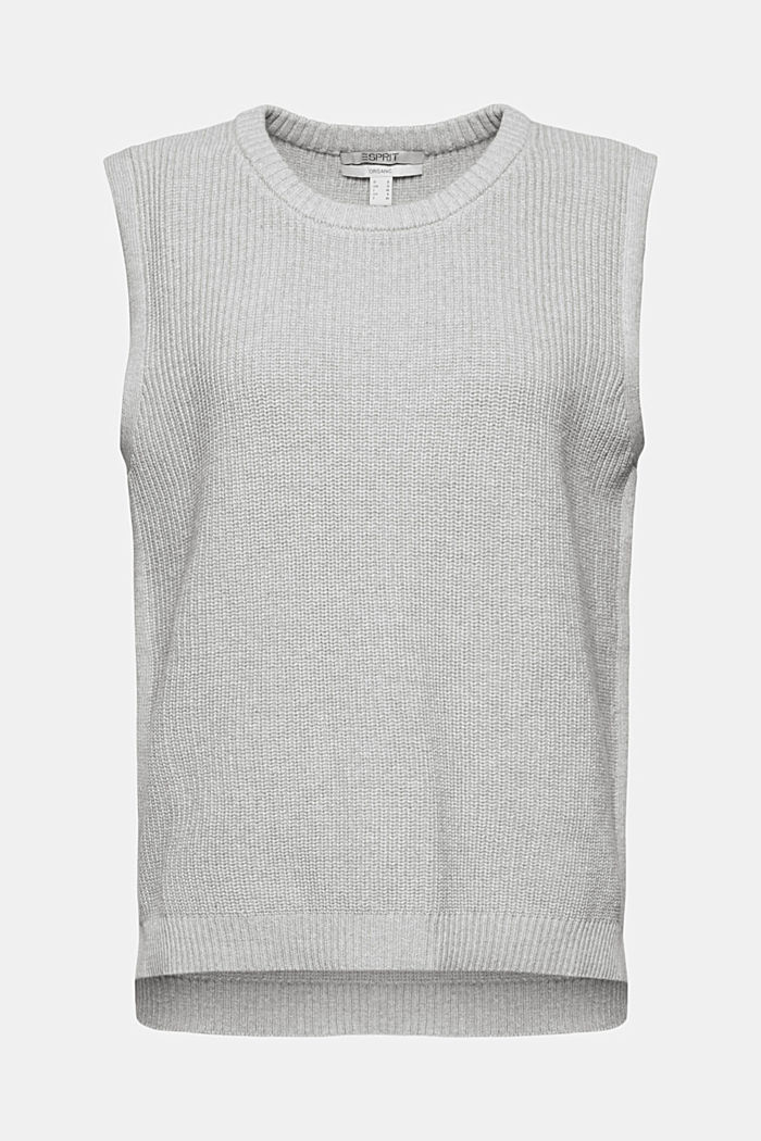 Sleeveless jumper made of 100% organic cotton, LIGHT GREY, detail image number 7