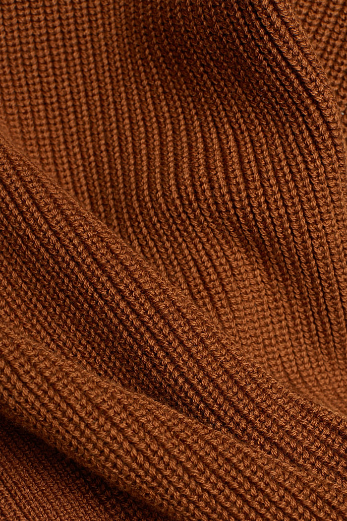 Sleeveless jumper made of 100% organic cotton, BROWN, detail image number 4