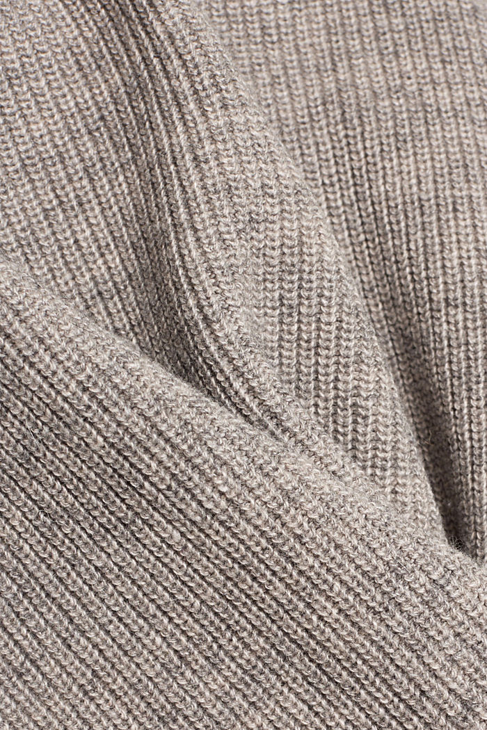 With alpaca: sleeveless jumper containing organic cotton, MEDIUM GREY, detail image number 4