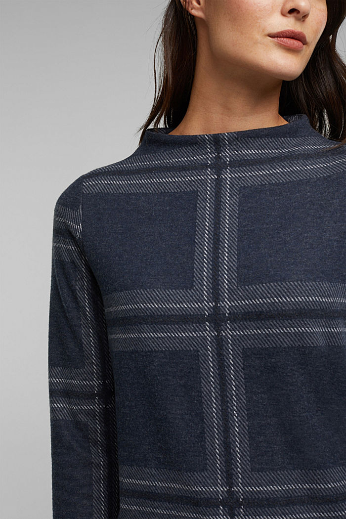Recycled: check flannel sweatshirt, GUNMETAL, detail image number 2