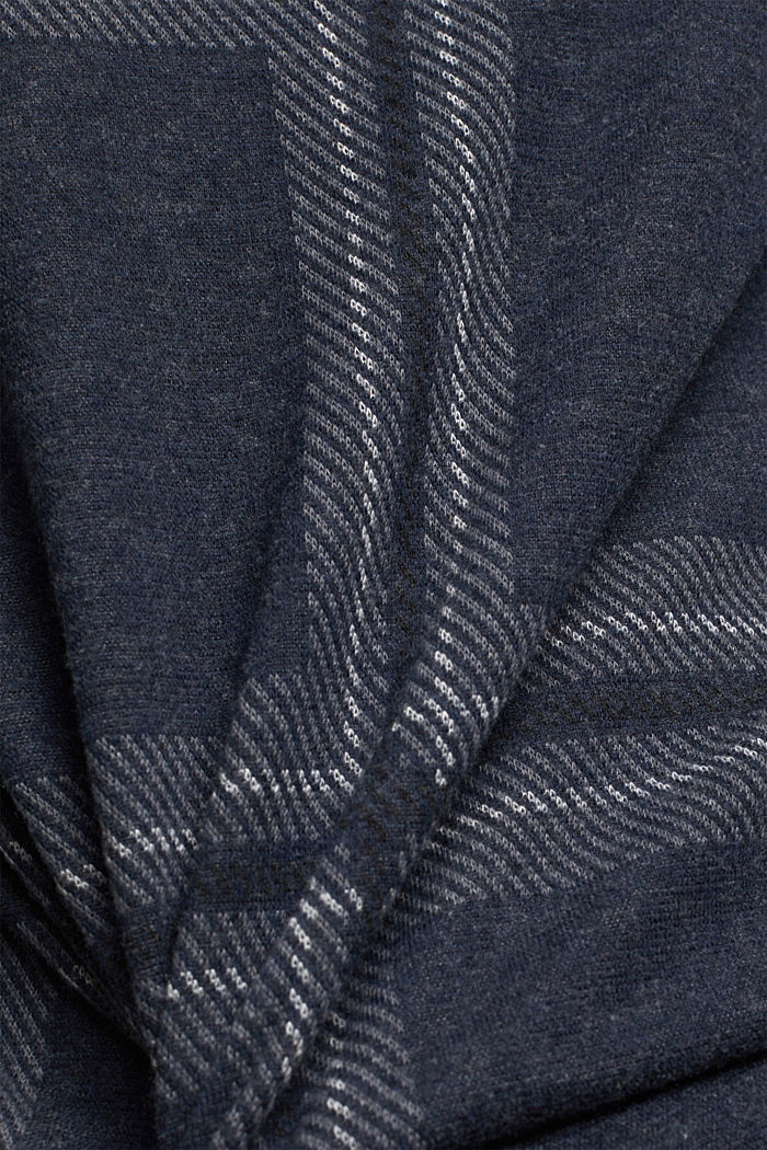 Recycled: check flannel sweatshirt, GUNMETAL, detail image number 4