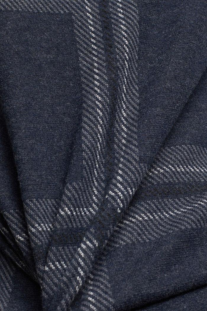 Zrecyklovaného materiálu: flanelová košile s károvaným vzorem, GUNMETAL, detail image number 4
