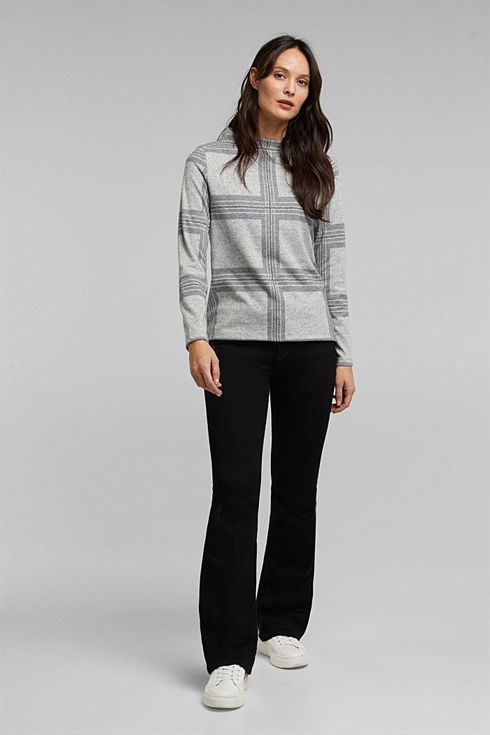 Gerecycled: flanellen shirt met ruitmotief, LIGHT GREY, detail image number 1