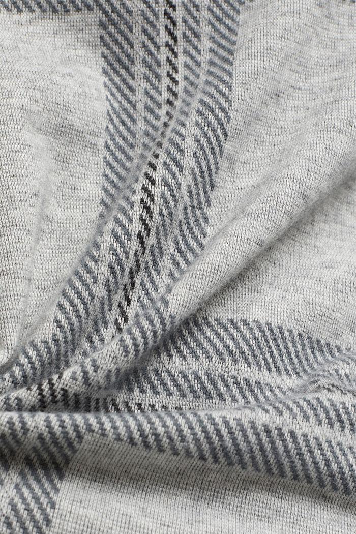 Gerecycled: flanellen shirt met ruitmotief, LIGHT GREY, detail image number 4