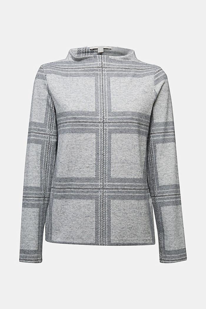 Recycelt: Flanellshirt mit Karo-Muster