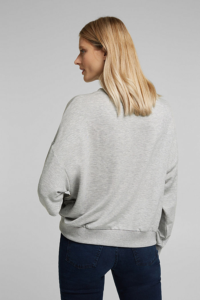 TENCEL™ blend: soft sweatshirt, GREY, detail image number 3