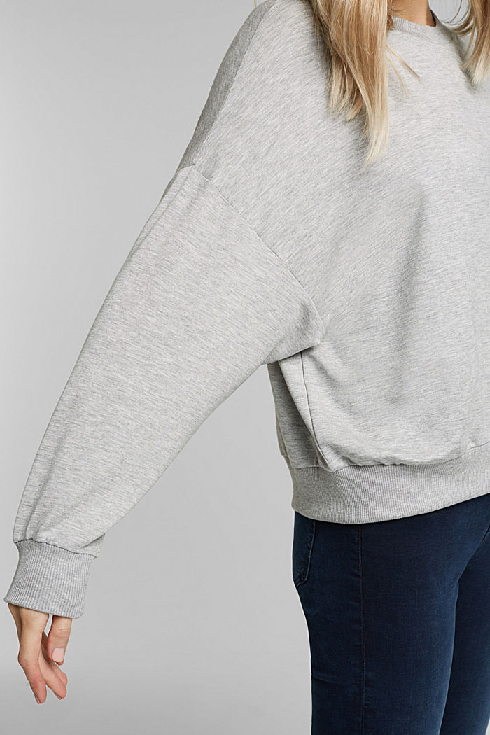 TENCEL™ blend: soft sweatshirt, GREY, detail image number 2