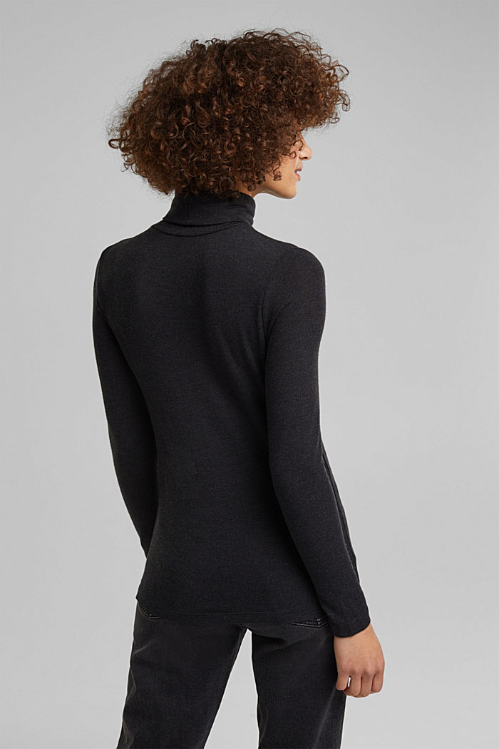 Long sleeve top with LENZING™ ECOVERO™, GUNMETAL, detail image number 3
