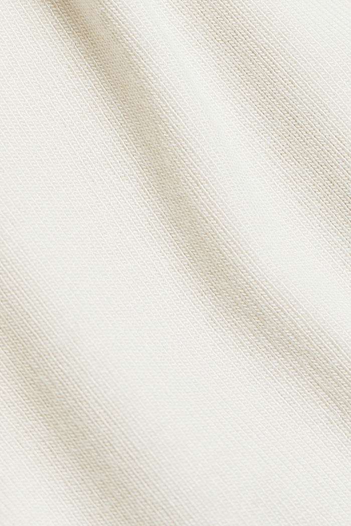 Long sleeve top with LENZING™ ECOVERO™, CREAM BEIGE, detail image number 4