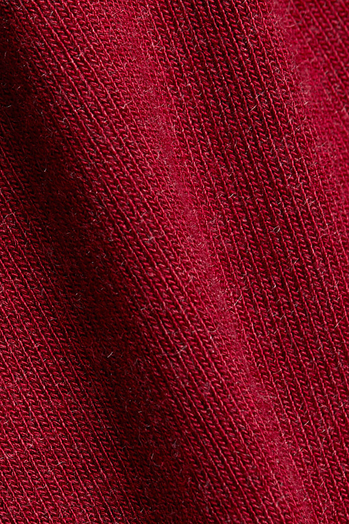 Long sleeve top with LENZING™ ECOVERO™, BORDEAUX RED, detail image number 4
