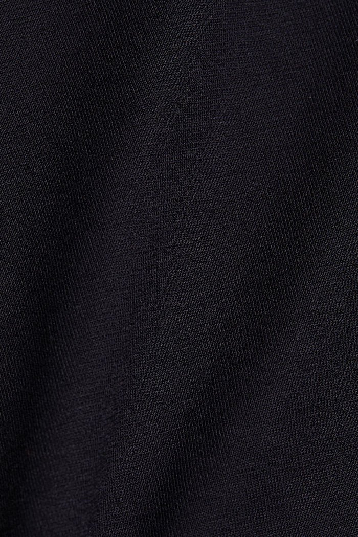 Glittering top made of LENZING™ ECOVERO™, BLACK, detail image number 4