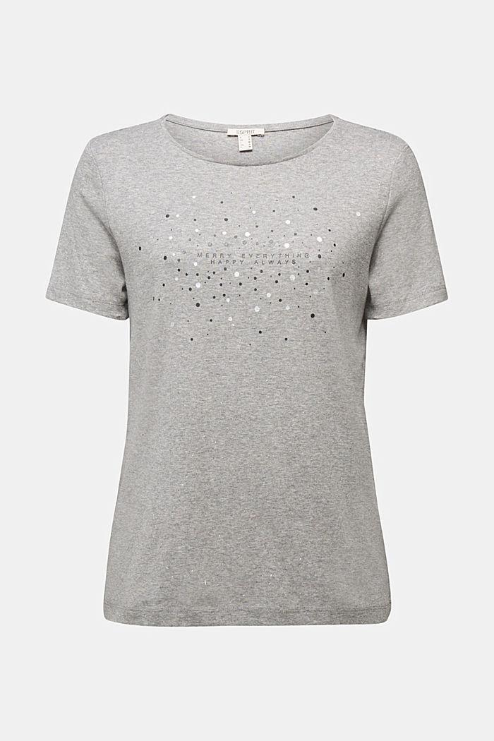Melange T-shirt with organic cotton