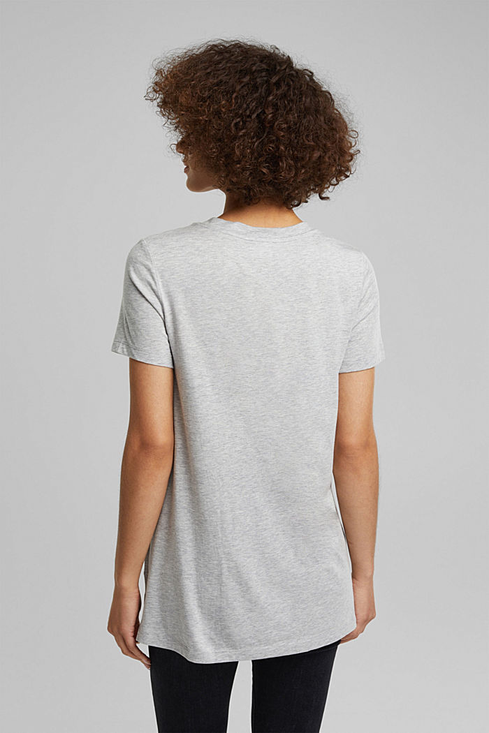 Statement top with organic cotton, LIGHT GREY, detail image number 3