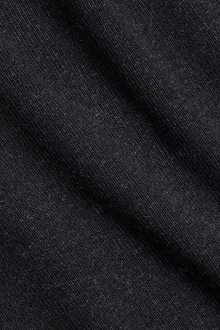 Jersey long sleeve top with LENZING™ ECOVERO™, GUNMETAL, detail image number 4