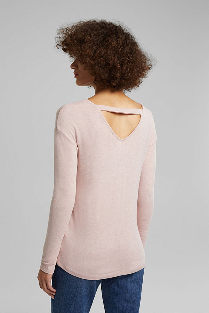Jersey long sleeve top with LENZING™ ECOVERO™, NUDE, detail image number 3