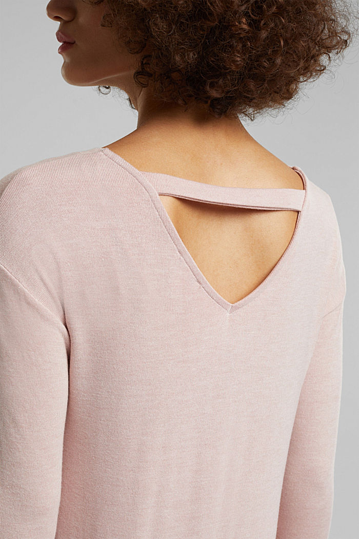 Jersey long sleeve top with LENZING™ ECOVERO™, NUDE, detail image number 2