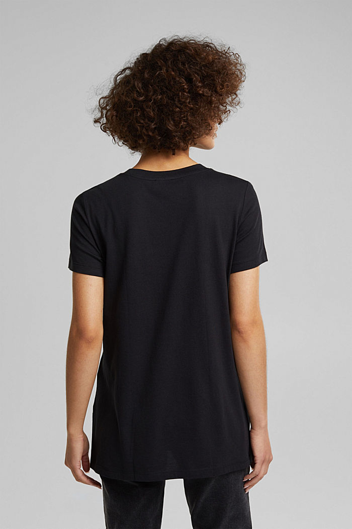 Statement top with organic cotton, BLACK, detail image number 3