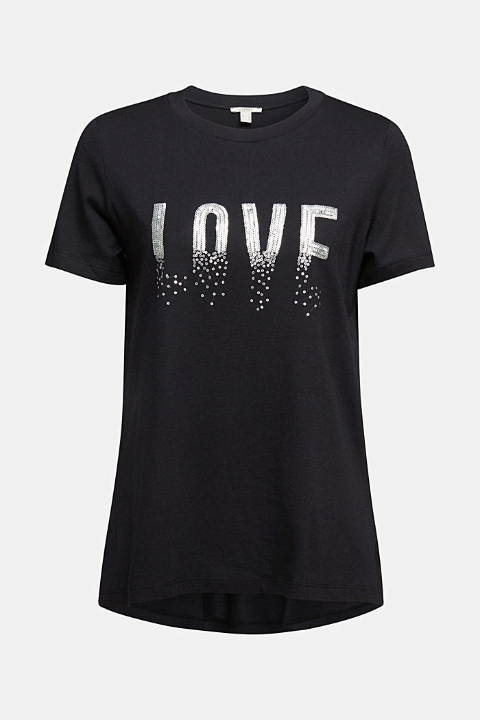 Statement top with organic cotton, BLACK, detail image number 7