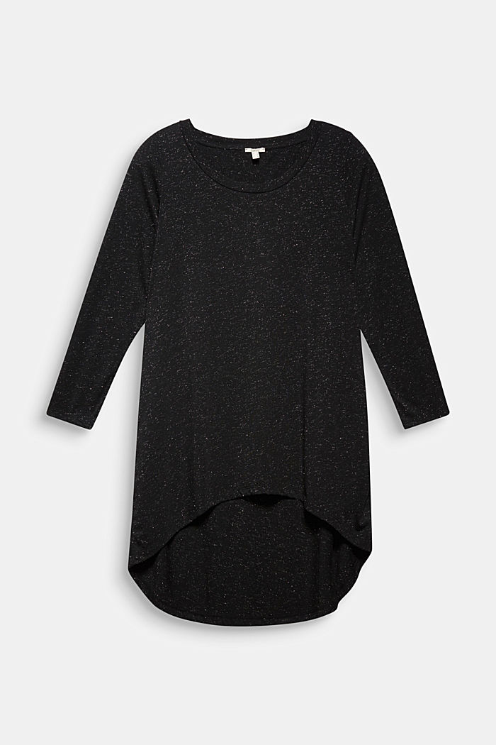 Long, long sleeve top with a glittering finish