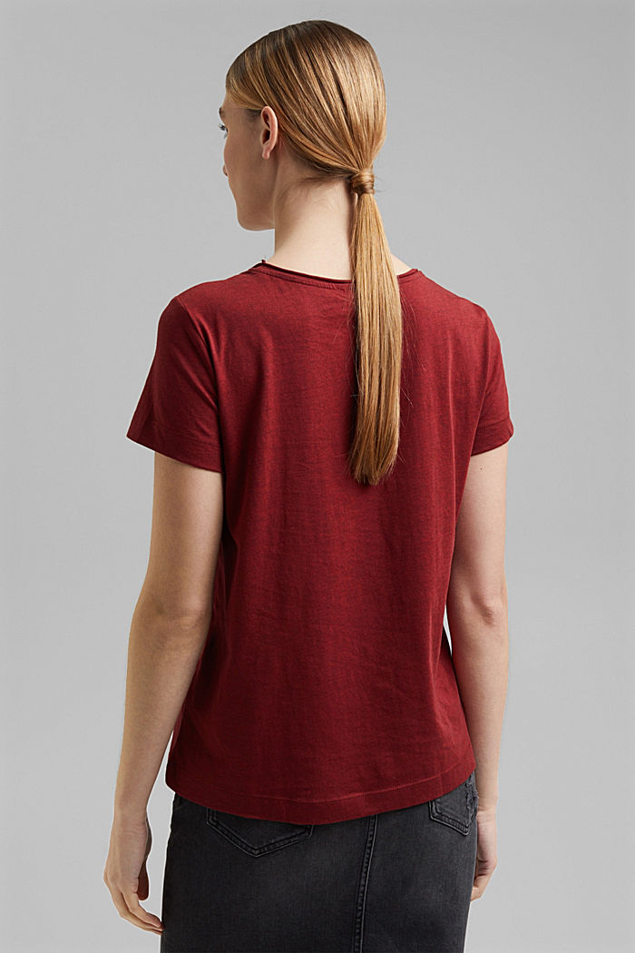 Statement top with organic cotton, BORDEAUX RED, detail image number 3