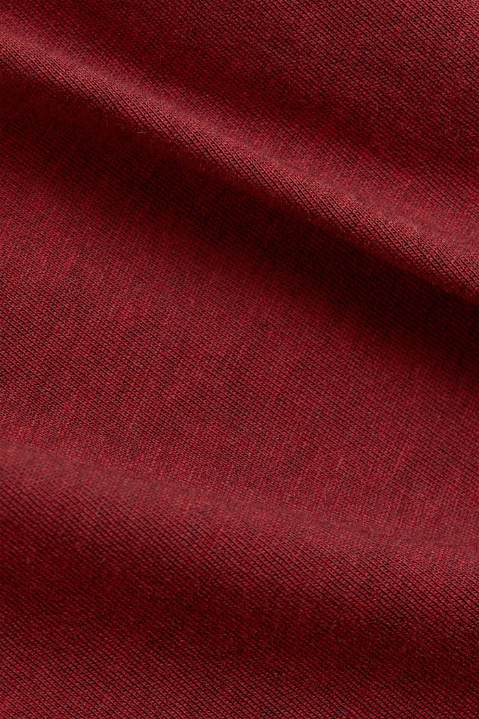 Statement top with organic cotton, BORDEAUX RED, detail image number 4